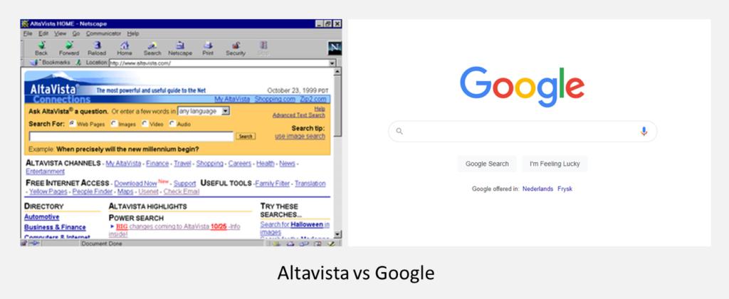 Altavista vs Google
