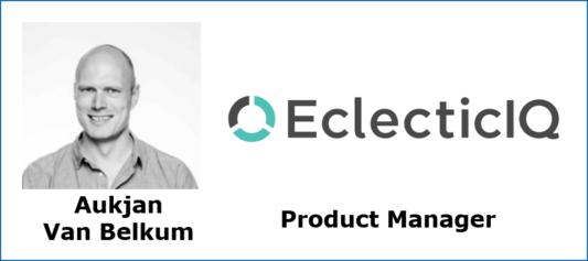 Foto Aukjan van Belkum + logo EclecticIQ