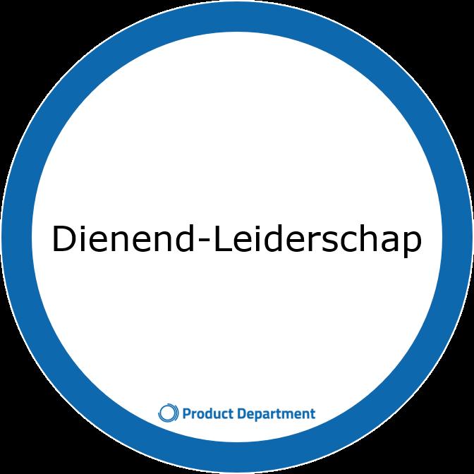 Cirkel met tekst dienend leiderschap product department