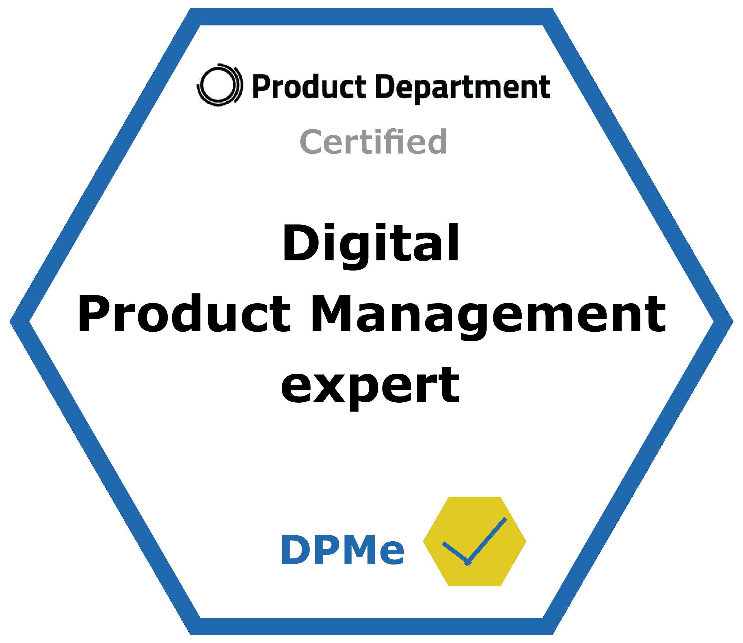 Afbeelding Certified Digital Product Management expert logo