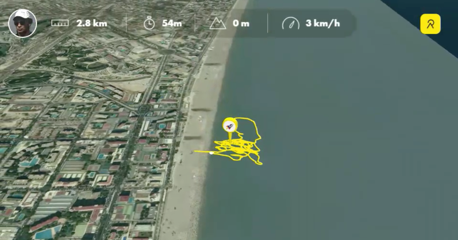 Relive photo of surfer tracking surf trip