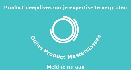 Symbool Product Department met tekst aanmelden online product masterclasses