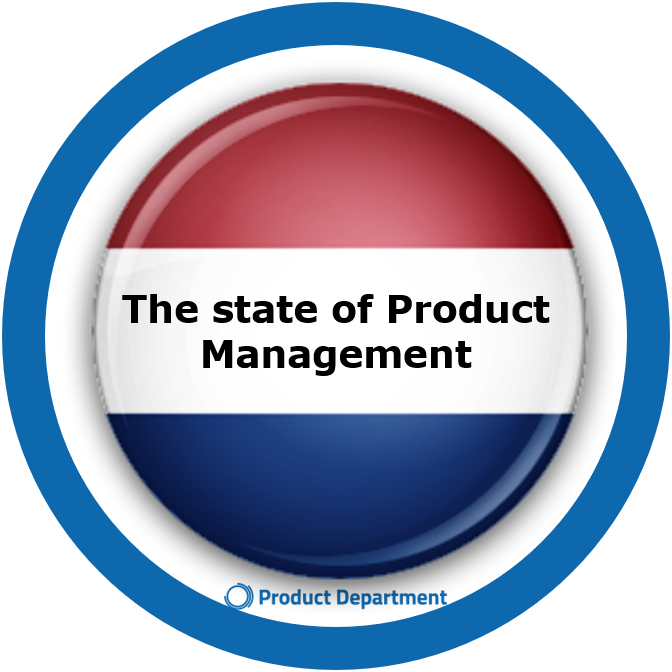 The state of Product Management + logo Product Department