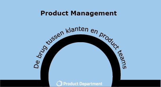 Afbeelding van brug met tekst product management als brug
